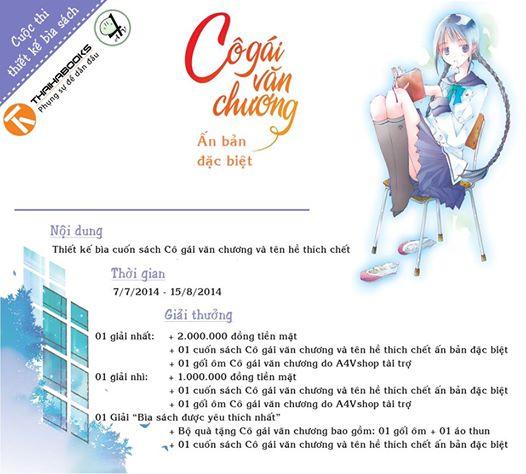"""[NEWS] Event thiết kế bìa sách """" Cô gái văn chương"""" ấn bản đặc biệt   Cogaivanchuonggiaithuong"""